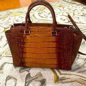 💕 Michael kors crocodile leather x large satchel